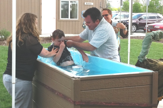 Caleb's baptism